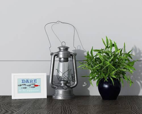 陈列品, 油灯, 绿植