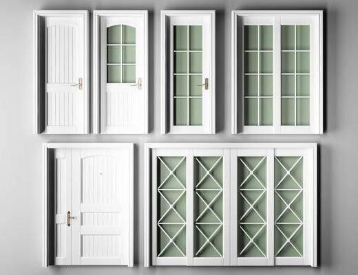 现代, 烤漆门, 推拉门, 子母门, 简欧, 门