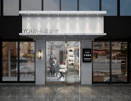 现代服装店, 服装店, 女装店, 衣服, 鞋子, 橱窗