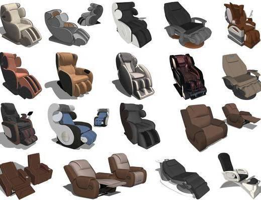 现代按摩椅