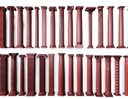 罗马柱组合, 竹子, 中式
