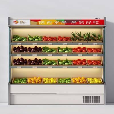 水果, 冰柜, 商品柜, 现代