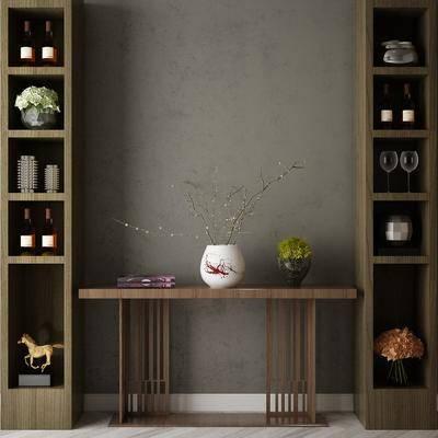 端景台, 摆件组合, 置物柜