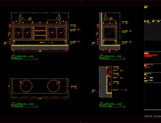 CAD施工图, 家装, 平面图, 立面图