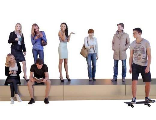 休闲男性, 女性人物, 人物组合, 现代