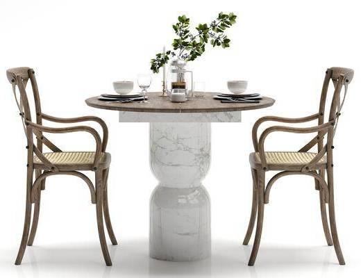 田园风, 桌椅, 组合
