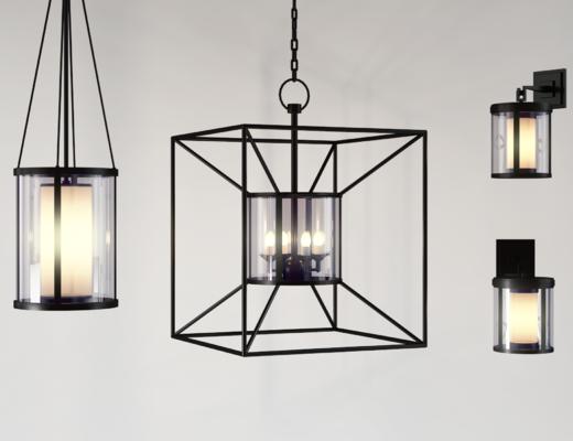 吊灯壁灯, 铁艺吊灯, 铁艺壁灯, 工业风
