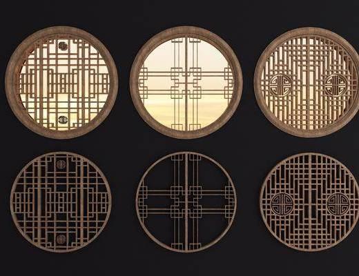 实木花格, 镂花窗, 新中式, 双十一