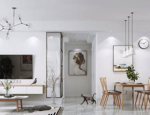 沙發組合, 餐桌組合, 燈具, 裝飾品擺件