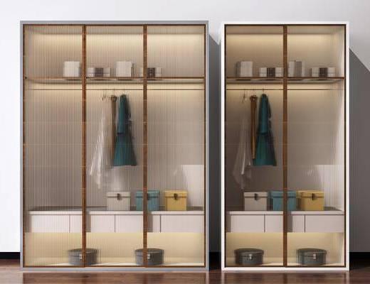 现代, 衣柜, 新中式, 装饰柜