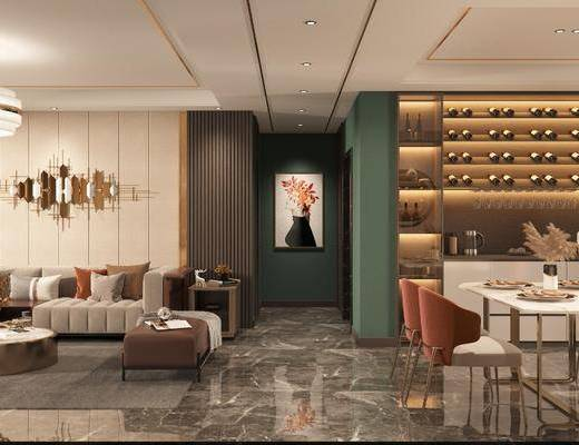 现代, 客餐厅, 家装