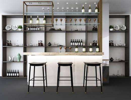 ?#21830;?#21543;椅, 单人椅, 酒瓶, 现代