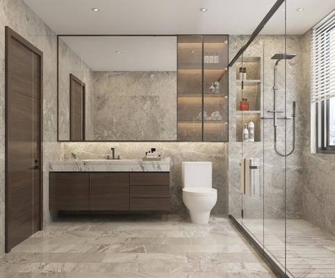 卫生间, 洗手盆, 马桶