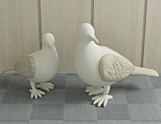 石膏雕塑, 鸽子, 现代