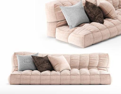 布艺沙发, 多人沙发, 现代