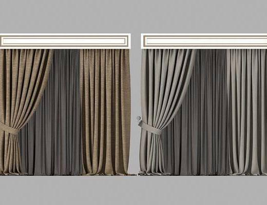 窗帘组合, 现代