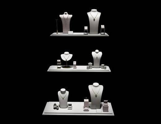 珠宝道具, 珠宝首饰, 展示柜, 现代