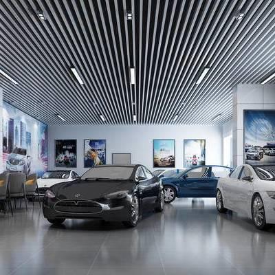 汽车, 车店, 汽车店, 现代