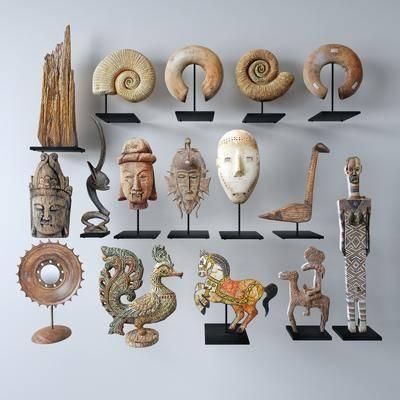 工艺品, 摆件组合, 装饰品, 陶瓷器皿