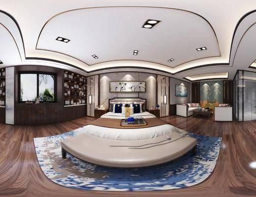 新中式, 酒店, 客房, 家装