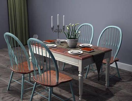 桌椅組合, 餐桌椅組合, 餐具組合, 東南亞