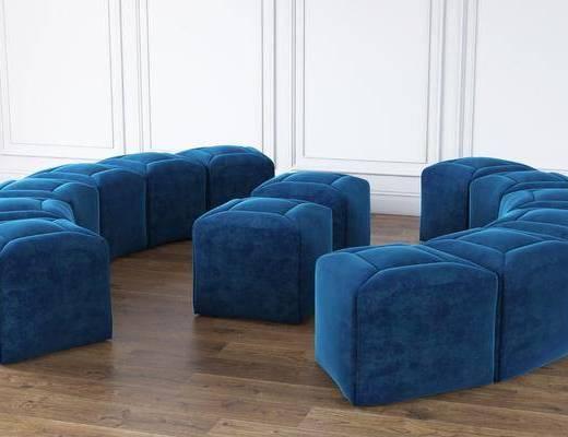 多人沙发, 弧形沙发, 现代弧形沙发, 现代