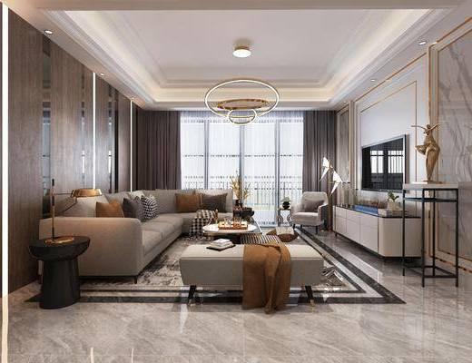 客廳, 餐廳, 沙發組合, 沙發茶幾組合, 邊柜組合, 擺件組合, 裝飾柜組合, 餐桌椅組合, 餐具組合, 現代