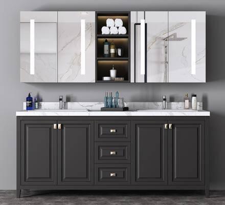 柜架组合, 卫浴组合, 洗手盆