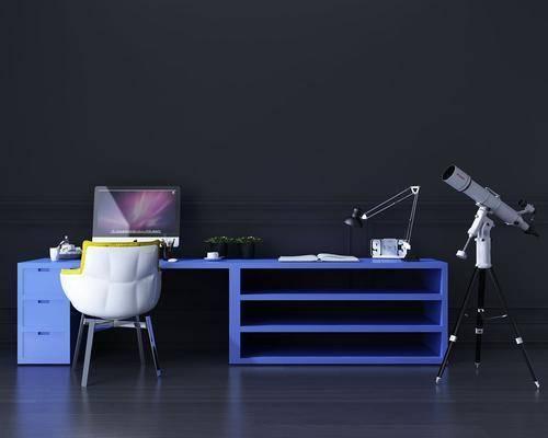 办公桌, 书桌, 单人椅, 办公椅, 现代