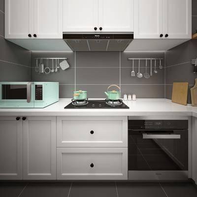 厨房, 橱柜, 厨柜, 厨具, 现代