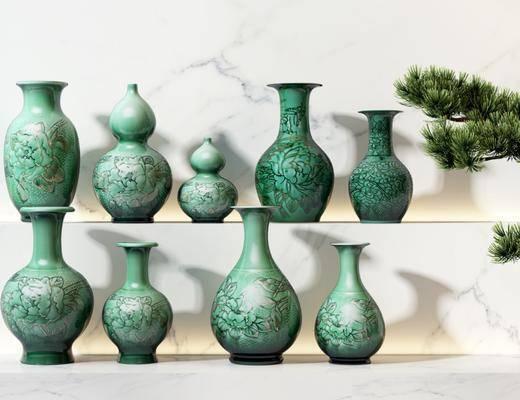 新中式陶瓷器皿, 陶瓷花瓶