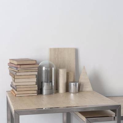 摆件书籍, 摆件组合, 桌子, 现代