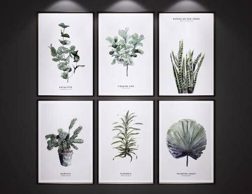 挂画, 艺术画, 绿植装饰画