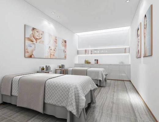 现代美容室, 美容床