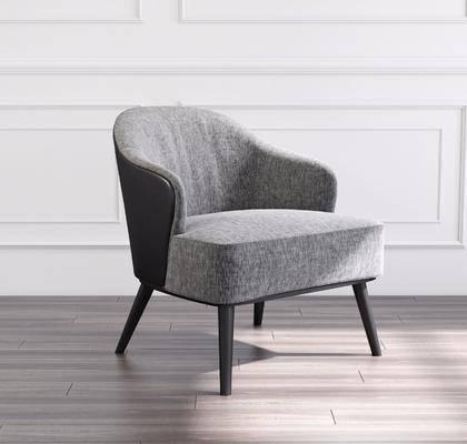 单人沙发, 单人椅, 休闲椅, 北欧