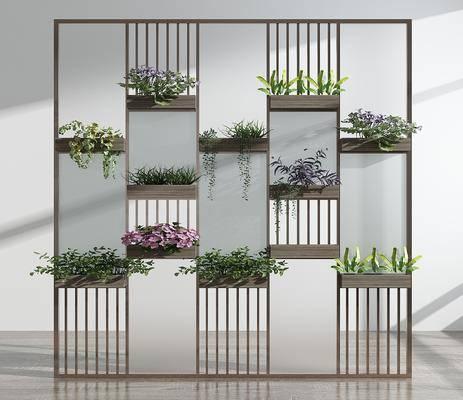 花架, 屏风隔断, 绿植植物, 现代