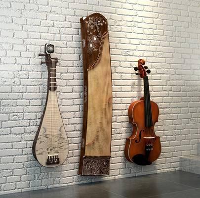 乐器组合, 吉它, 古筝, 琵琶, 音乐器材