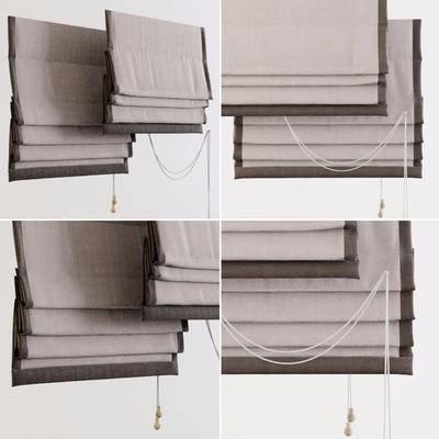 现代叠帘, 罗马帘, 折叠帘, 现代