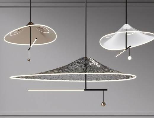 现代金属吊灯, 艺术吊灯