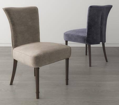 美式餐椅, 梳妆椅, 单椅