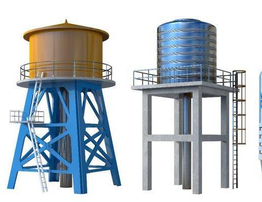 冷却塔, 水塔