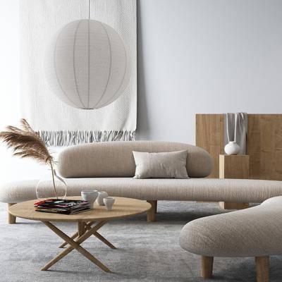 沙发组合, 茶几, 摆件组合