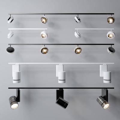 导轨灯, 灯具, 组合