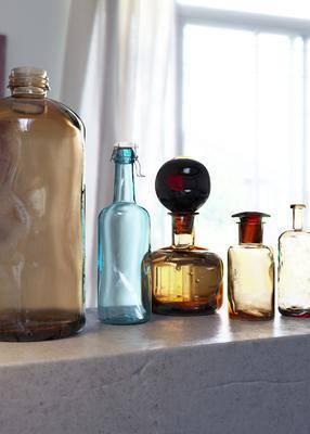 酒瓶酒杯, 摆件组合, 现代