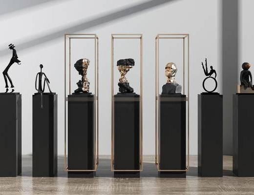 现代雕像, 抽象人物雕像, 雕像组合