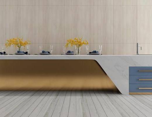 餐廳, 吧臺組合, 餐具組合, 現代輕奢