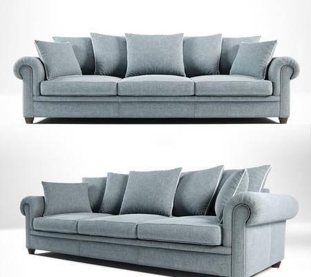 多人沙发, 现代多人沙发, 布艺多人沙发, 现代布艺多人沙发, 现代沙发, 布艺沙发, 纯色沙发, 现代