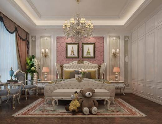 欧式卧室, 欧式儿童房, 儿童房