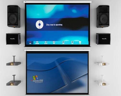 投影仪, 显示屏, 音响, 现代