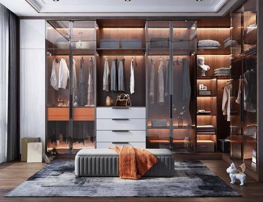 衣柜, 服饰, 装饰品, 摆件, 沙发凳